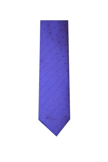 LA Smith Lilac Skinny Polka Dot Tie - Accessories