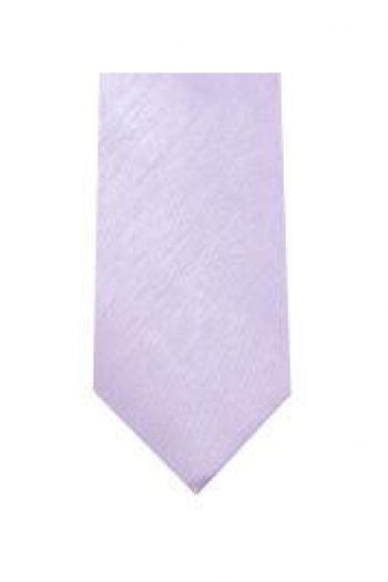 LA Smith Lilac Skinny Shantung Tie - Accessories