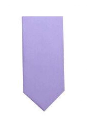 LA Smith Lilac Skinny Weft Satin Tie - Accessories