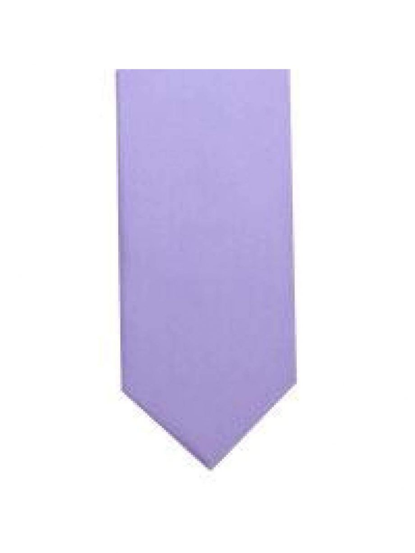 LA Smith Lilac Skinny Weft Satin Tie - Accessories