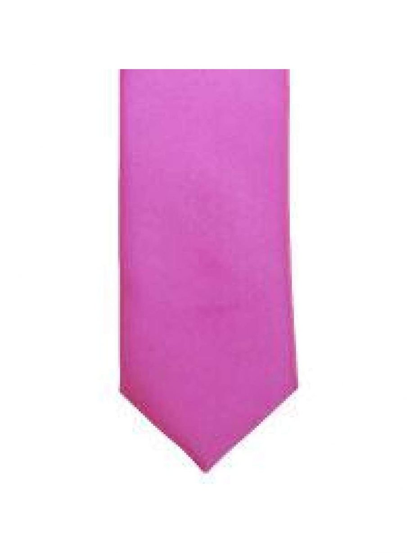 LA Smith Lipstick Pink Skinny Weft Satin Tie - Accessories