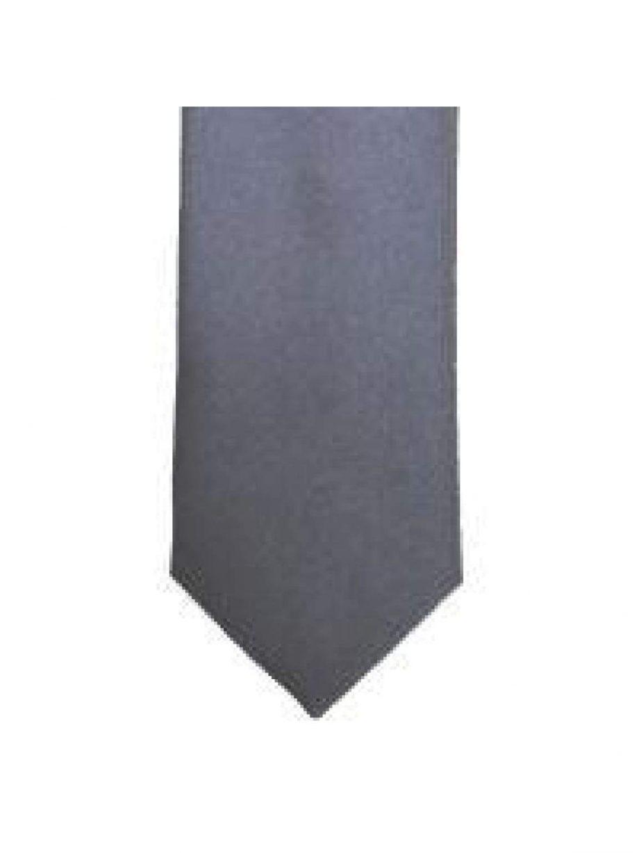 LA Smith Mid Grey Skinny Weft Satin Tie - Accessories