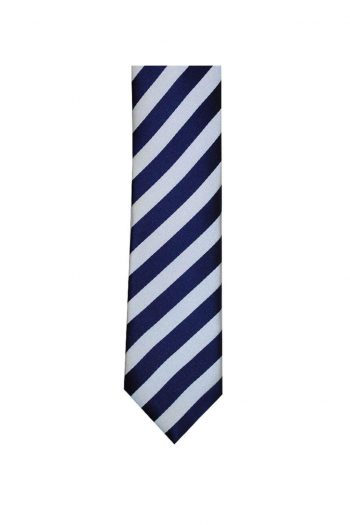 LA Smith Navy And White Skinny Stripe Tie - Accessories