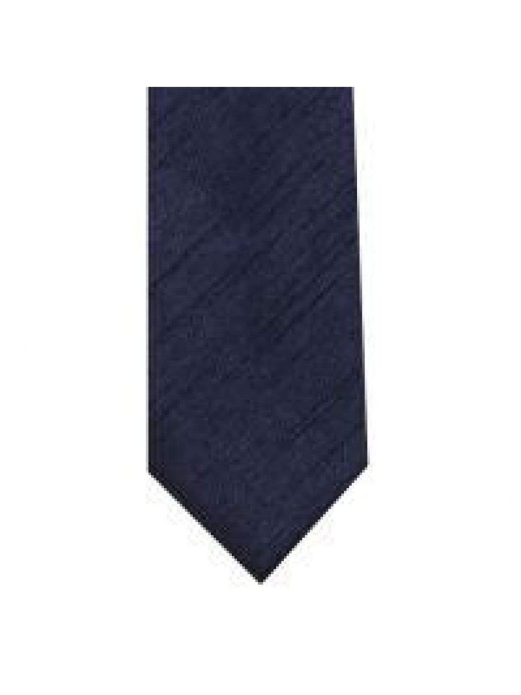 LA Smith Navy Skinny Shantung Tie - Accessories