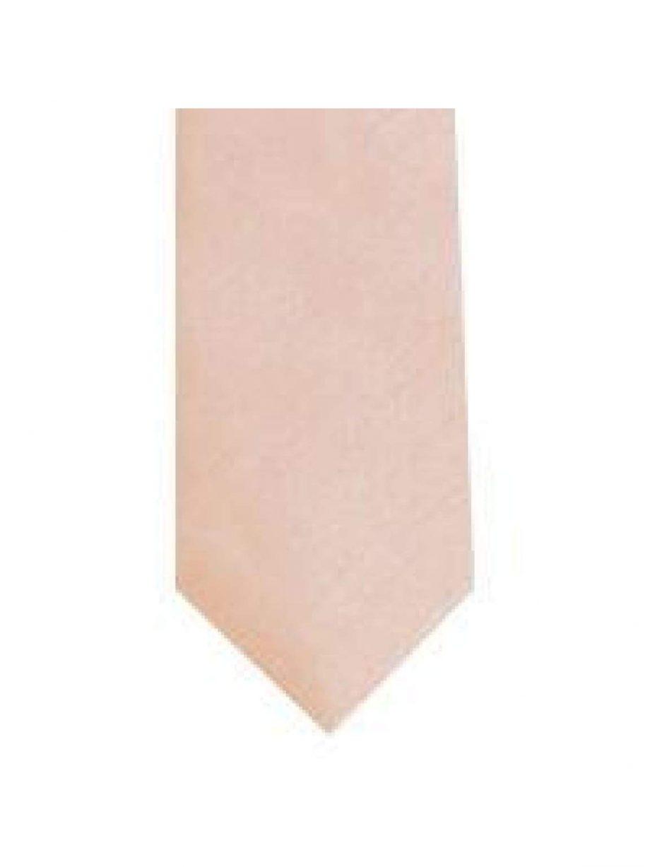 LA Smith Peach Skinny Shantung Tie - Accessories