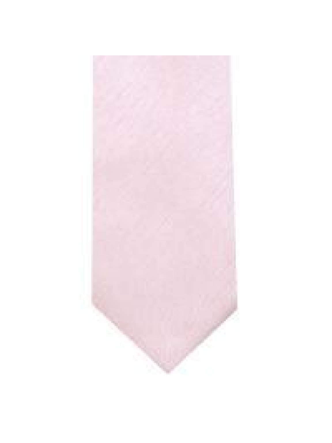 LA Smith Pink Skinny Shantung Tie - Accessories