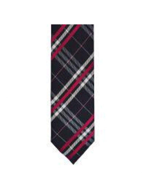 LA Smith Pink Skinny Tartan Tie - Accessories