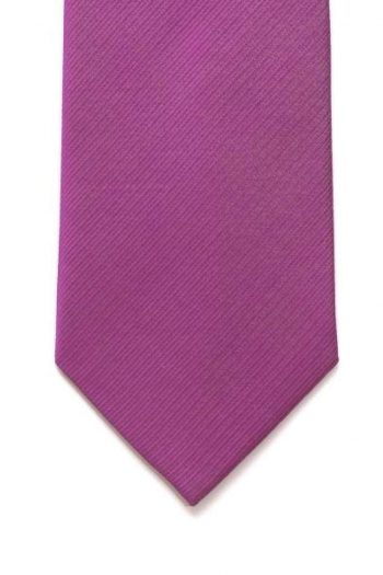LA Smith Pink With Yellow Tipping Silk Tie - Accessories