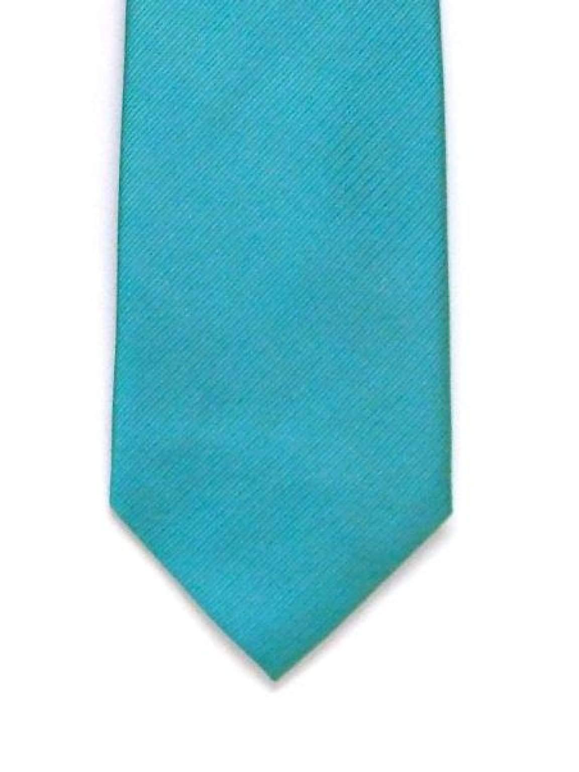 LA Smith Plain Aqua Silk Tie - Accessories
