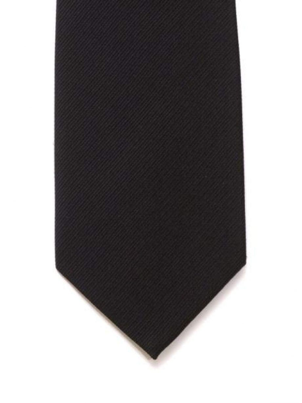 LA Smith Plain Black Silk Tie - Accessories