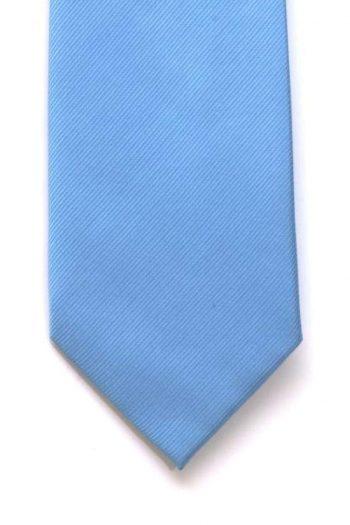 LA Smith Plain Blue Silk Tie - Accessories
