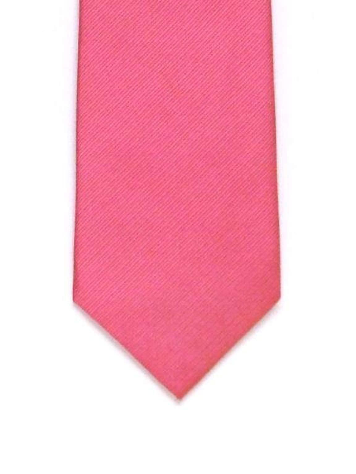 LA Smith Plain Hot Pink Silk Tie - Accessories