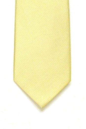 LA Smith Plain Ivory Silk Tie - Accessories
