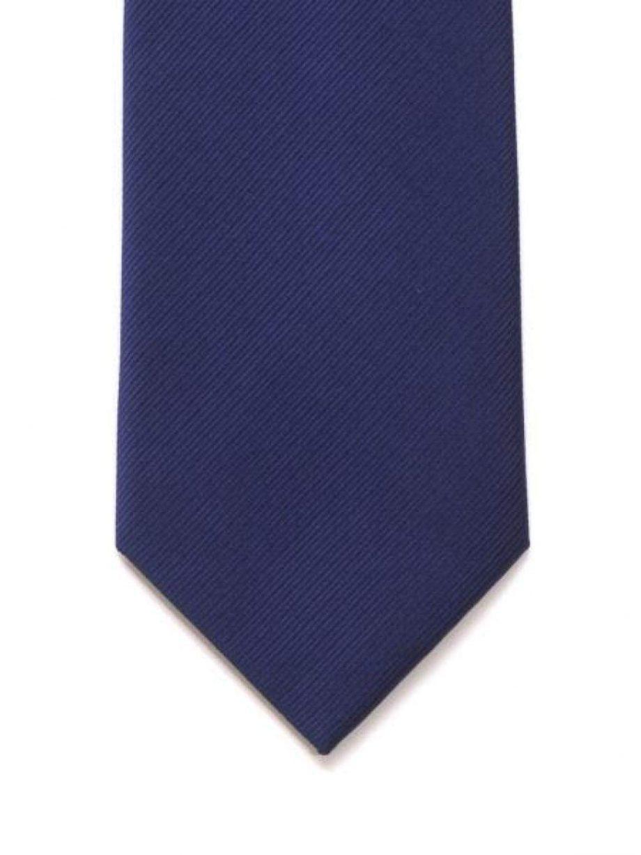 LA Smith Plain Navy Silk Tie - Accessories