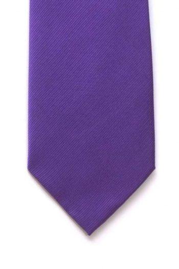 LA Smith Plain Purple Silk Tie - Accessories