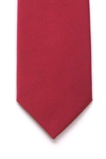 LA Smith Plain Red Silk Tie - Accessories