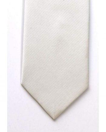 LA Smith Plain White Silk Tie - Accessories