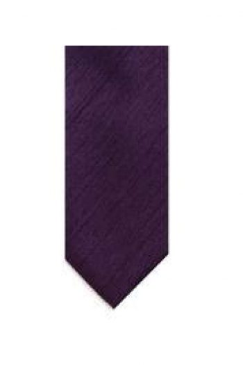 LA Smith Purple Skinny Shantung Tie - Accessories