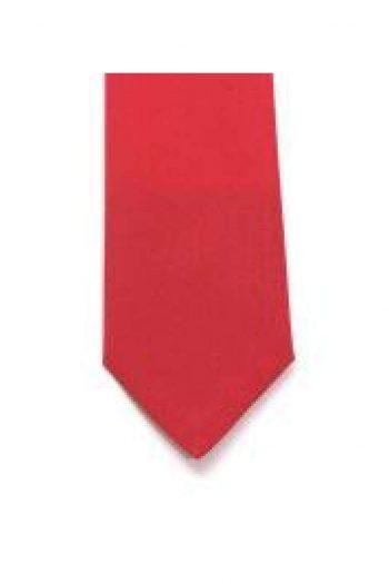 LA Smith Red Skinny Panama Tie - Accessories