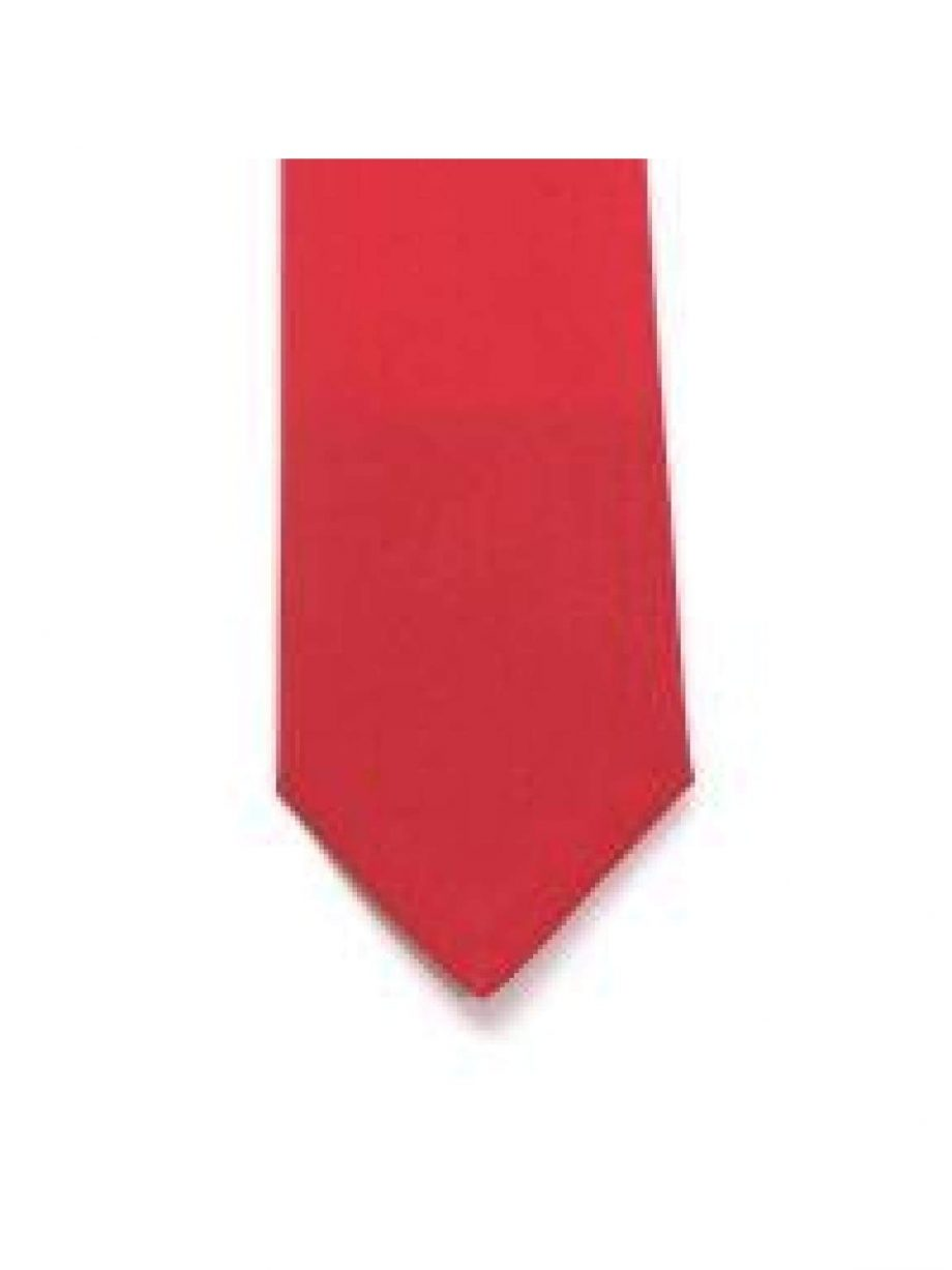 LA Smith Red Skinny Panama Tie - Accessories