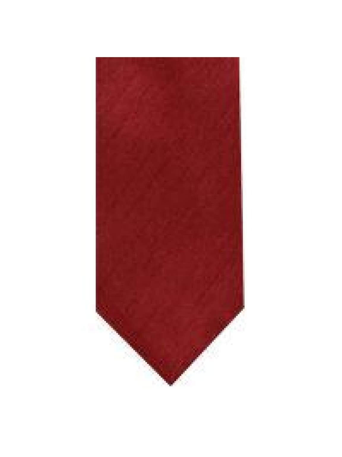 LA Smith Red Skinny Shantung Tie - Accessories