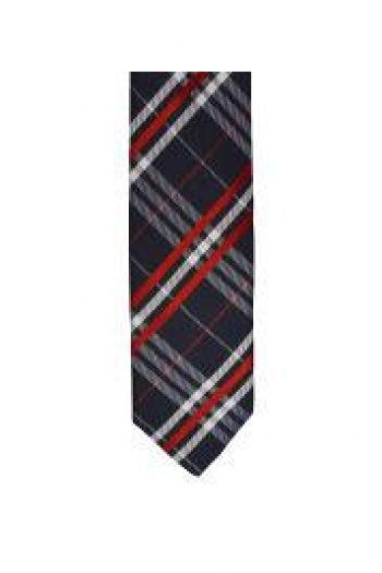 LA Smith Red Skinny Tartan Tie - Accessories