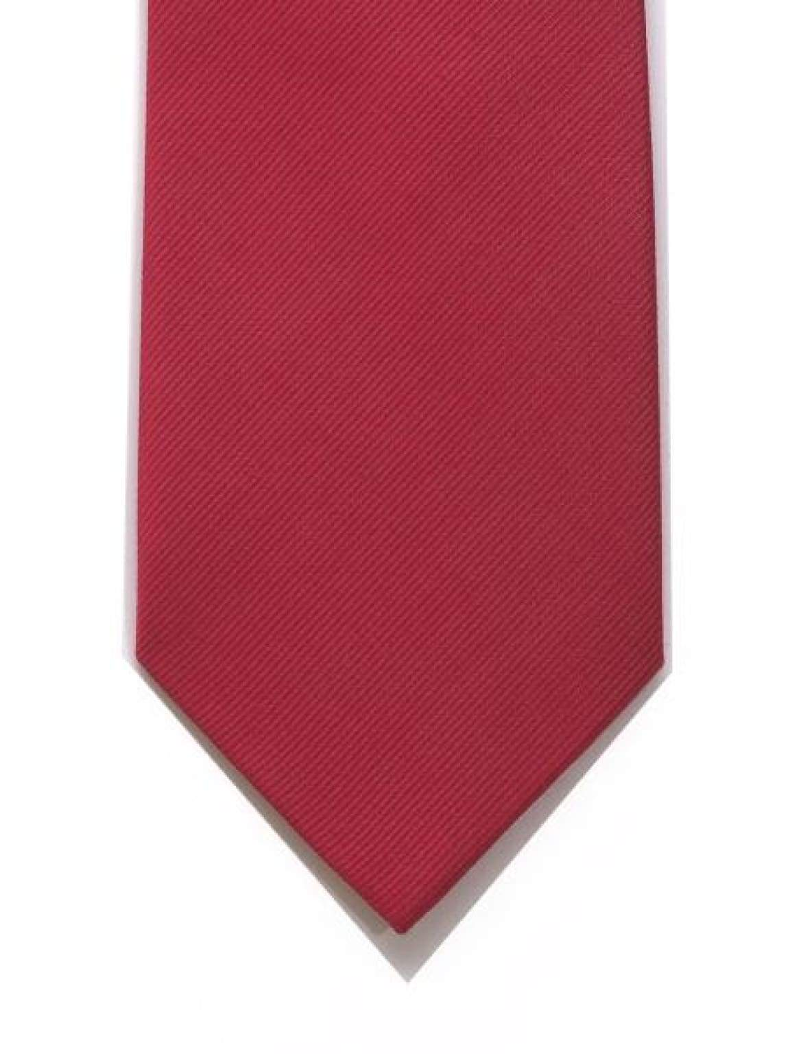 LA Smith Red With Blue Tipping Silk Tie - Accessories