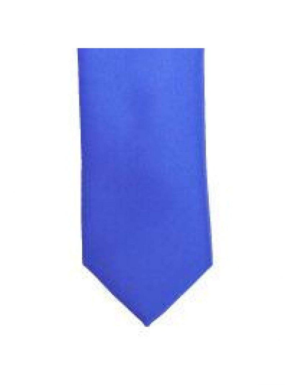 LA Smith Regatta Blue Skinny Weft Satin Tie - Accessories