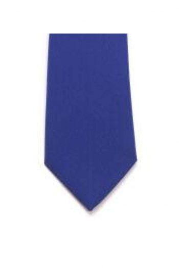LA Smith Royal Blue Skinny Panama Tie - Accessories