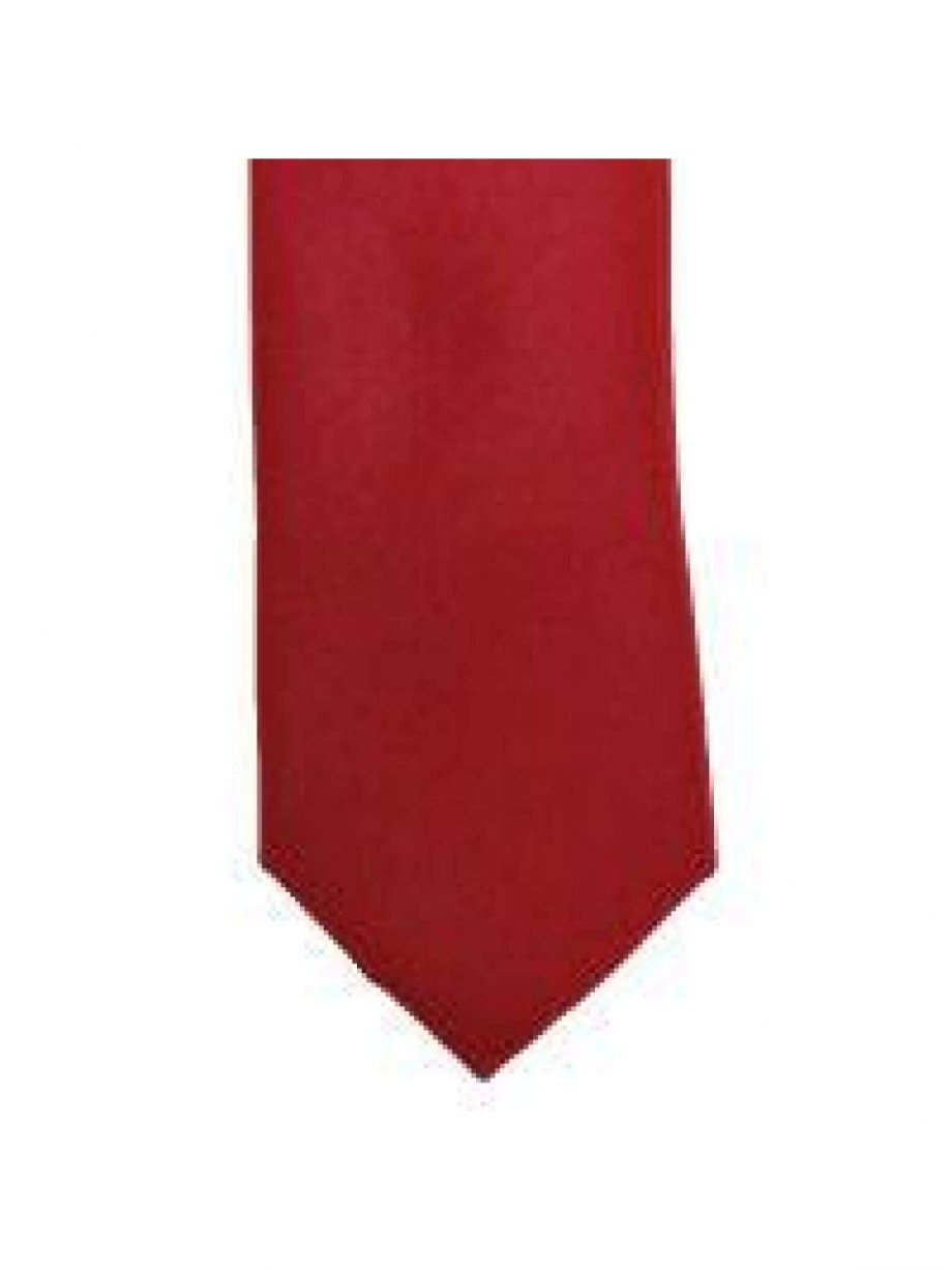 LA Smith Ruby Skinny Weft Satin Tie - Accessories
