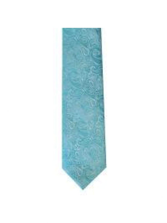 LA Smith Teal Skinny Paisley Tie - Accessories