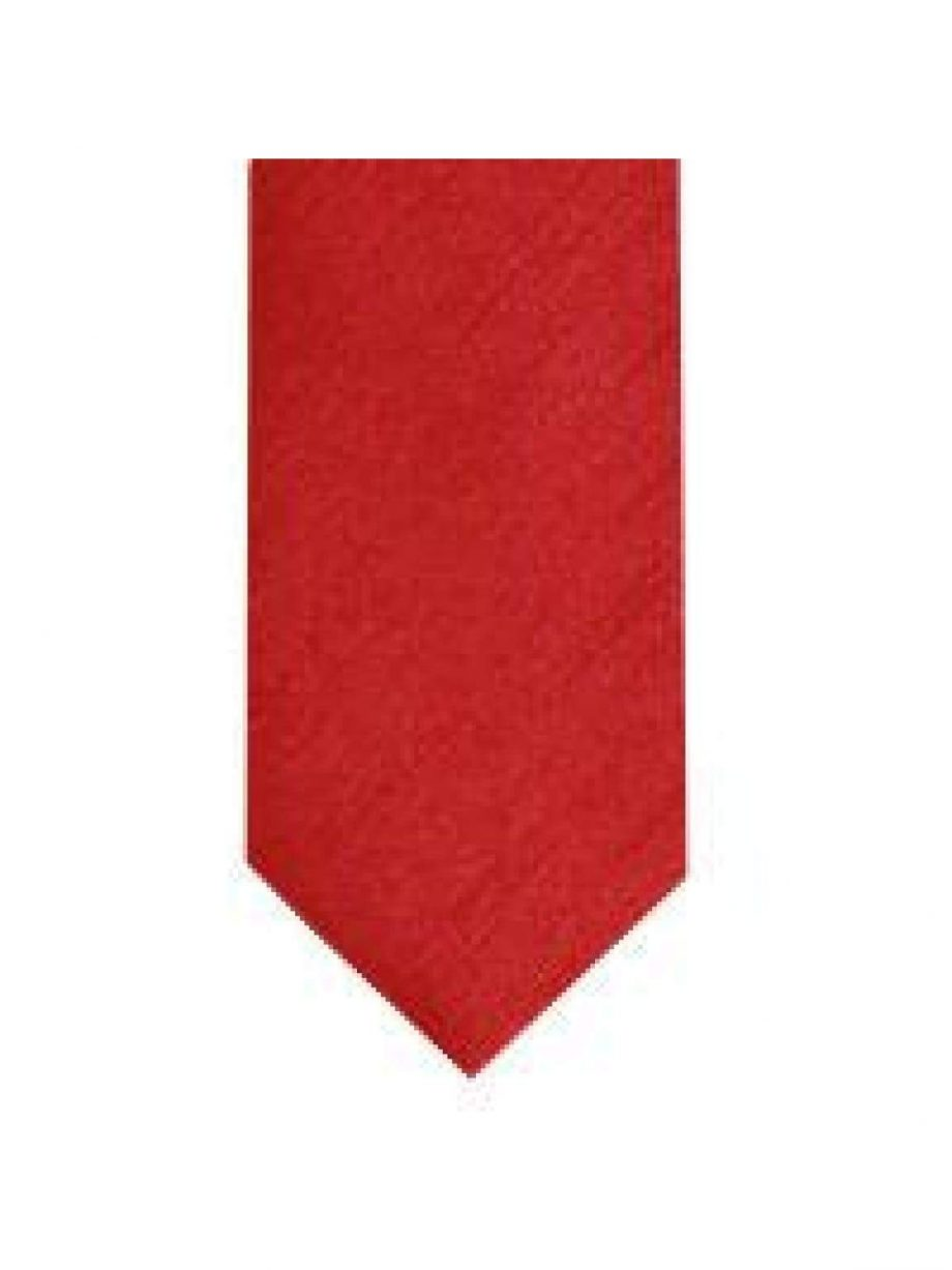LA Smith Tomato Skinny Shantung Tie - Accessories