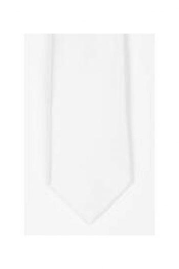 LA Smith White Skinny Satin Tie - Accessories