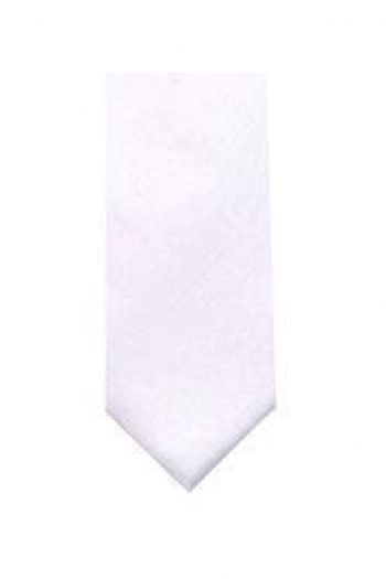 LA Smith White Skinny Shantung Tie - Accessories