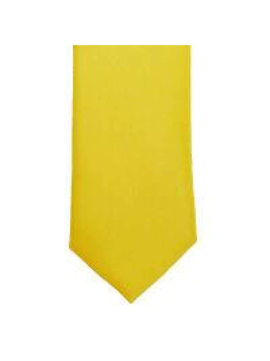 LA Smith Yellow Skinny Weft Satin Tie - Accessories