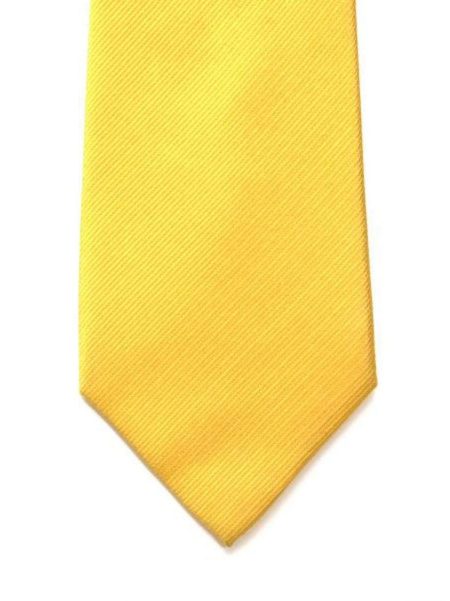 LA Smith Yellow With Turquoise Tipping Silk Tie - Accessories