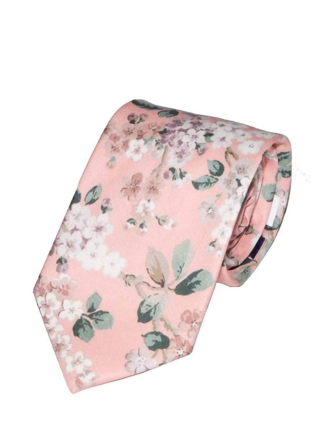 Liberty Fabric Josephine Pink Cotton Tie - Accessories