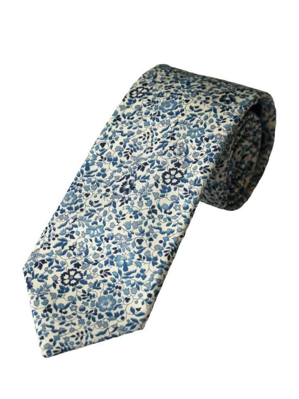 Liberty Fabric Katie & Millie Boys Blue Cotton Tie - Accessories