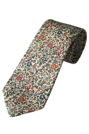 Liberty Fabric Katie & Millie Boys Pink Cotton Tie - Accessories