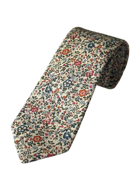 Liberty Fabric Katie & Millie Boys Pink Cotton Tie - Accessories