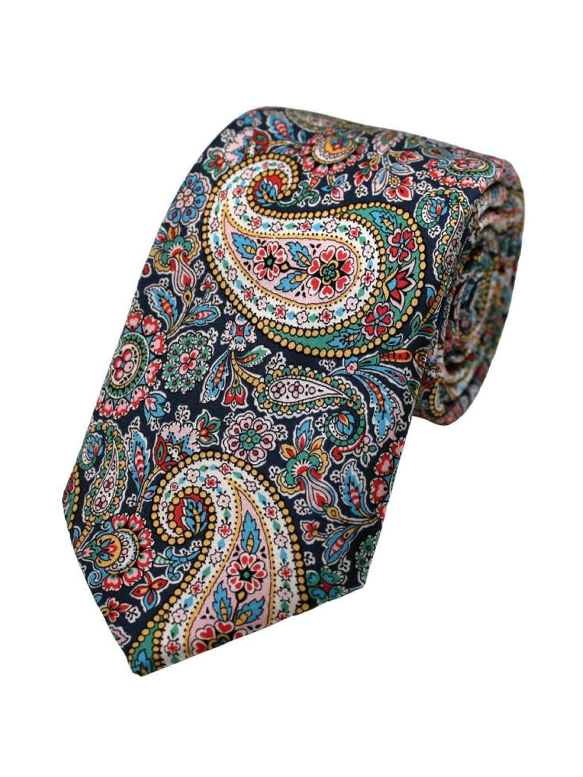 Liberty Fabric Lee Manor Blue Pure Silk Tie - Accessories