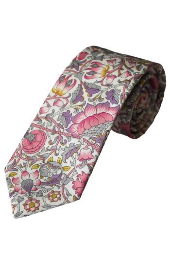 Liberty Fabric Lodden Boys Pink Cotton Tie - Accessories