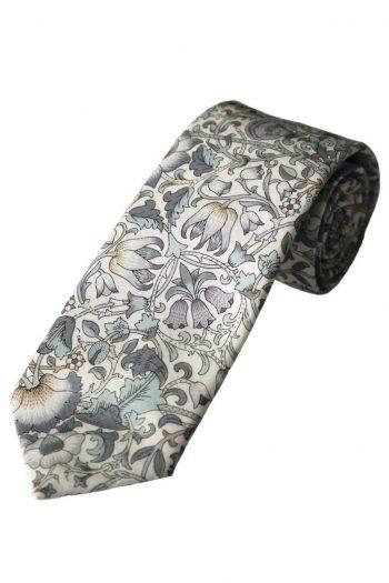 Liberty Fabric Lodden Boys Sage Cotton Tie - Accessories