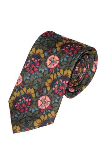 Liberty Fabric Persephone Green Cotton Tie - Accessories