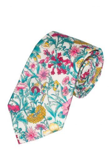 Liberty Fabric Rachel Pink Cotton Tie - Accessories