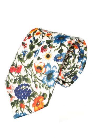 Liberty Fabric Rachel Red Cotton Tie - Accessories