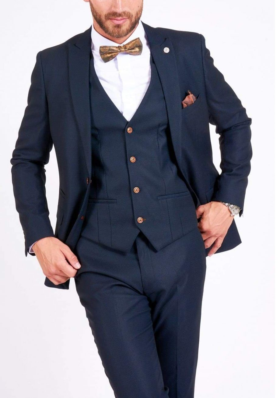 Max Navy Groomsman Suit