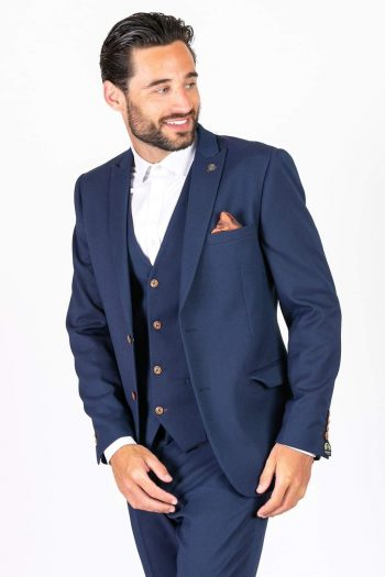 Marc Darcy Max Royal Blue Blazer with Contrast Buttons - 34R