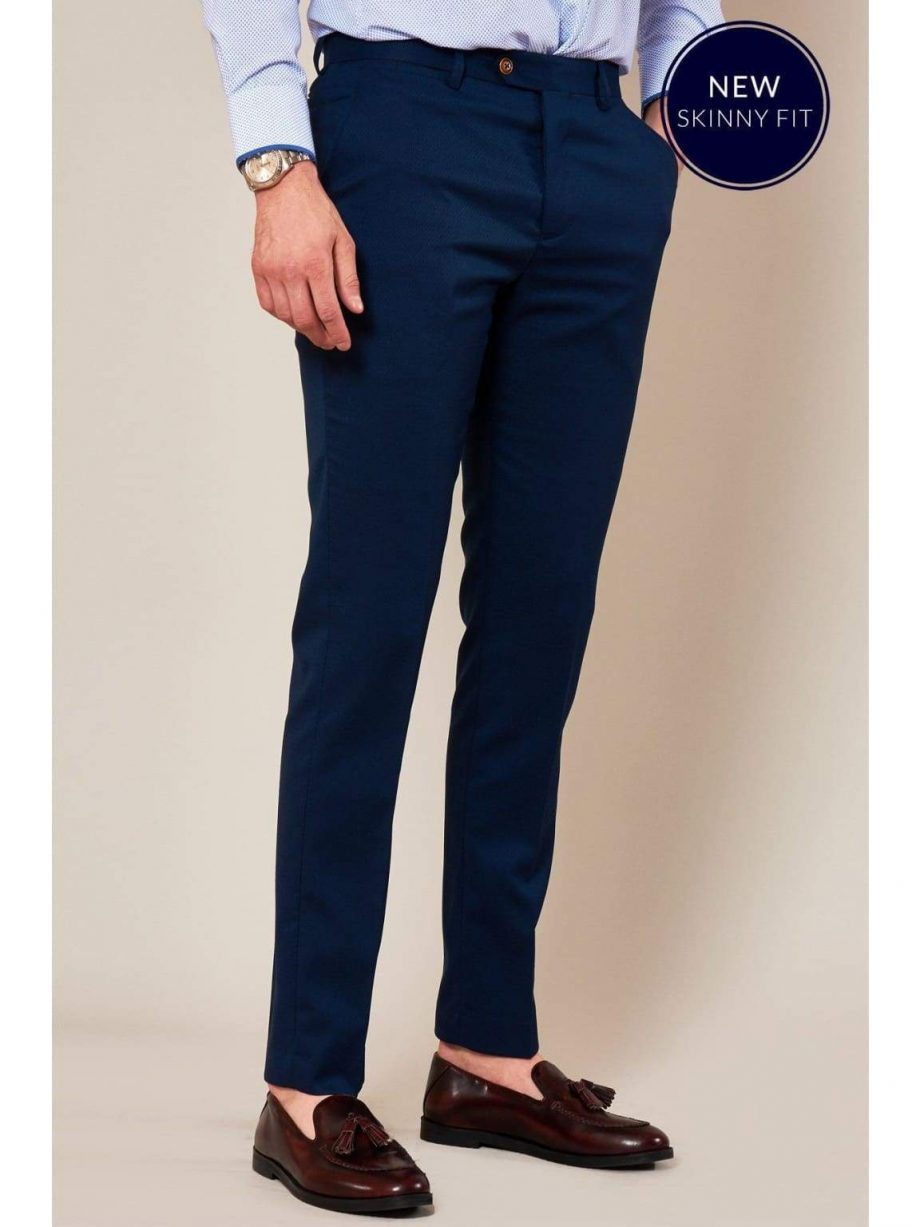 Marc Darcy Max Skinny Fit Royal Blue Trousers - Suit & Tailoring