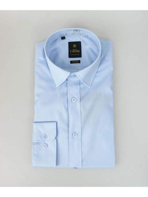 Mens Easy Iron Blue Slim Fit Shirt by Cavani - Shirts